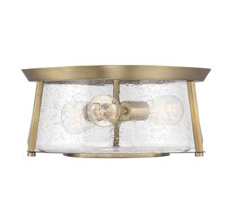 Dash 3 Light Warm Brass Flush Mount (128|6-2182-16-322)