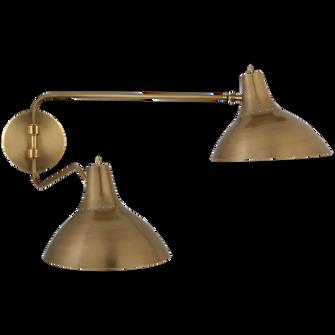 Charlton Medium Double Wall Light (279 ARN 2071HAB)