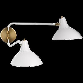 Charlton Medium Double Wall Light (279|ARN 2071WHT)