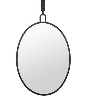 Stopwatch 22x30 Oval Powder Room Mirror - Black (158|4DMI0110)