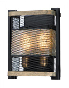 Boundry-Wall Sconce (27562BKBWAB)