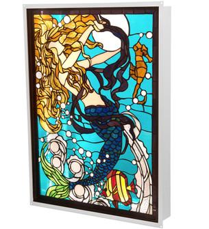 "22"" Wide X 29"" High Mermaid of the Sea LED Backlit Window (96 212842)"