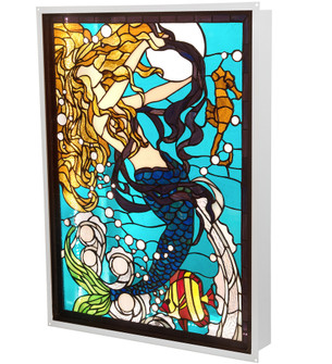 22'' Wide X 29'' High Mermaid of the Sea LED Backlit Window (96|212842)