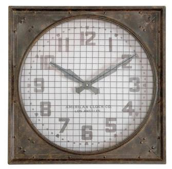 Uttermost Warehouse Wall Clock W/ Grill (85|06083)