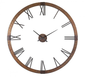 """Uttermost Amarion 60"""" Copper Wall Clock (85
