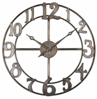 "Uttermost Delevan 32"" Metal Wall Clock (85|06681)"