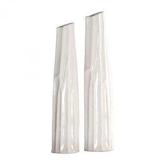Uttermost Kenley Crackled White Vases S/2 (85|18868)