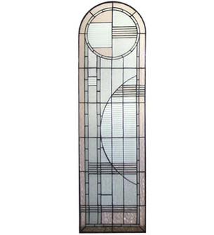 "15""W X 54""H Arc Deco Left Sided Stained Glass Window (96 22868)"