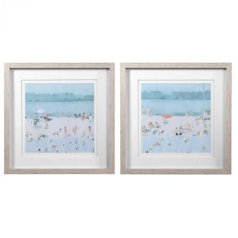 Uttermost Sea Glass Sandbar Framed Prints, Set/2 (85|33695)
