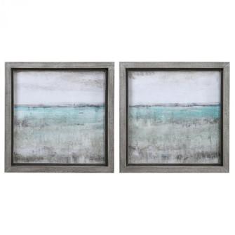 Uttermost Aqua Horizon Framed Prints, Set/2 (85|51114)