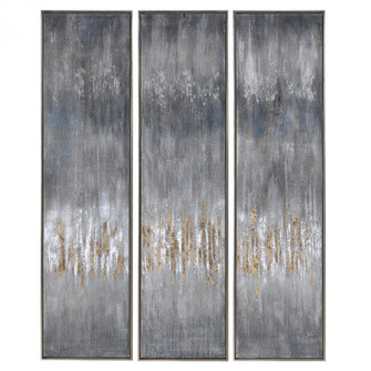 Uttermost Gray Showers Hand Painted Canvases, Set/3 (85|51304)