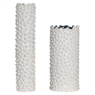 Uttermost Ciji White Vases, Set/2 (85|17578)
