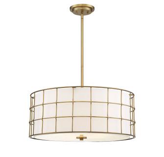 Hayden 5 Lights Warm Brass Pendant (128|7-8501-5-322)