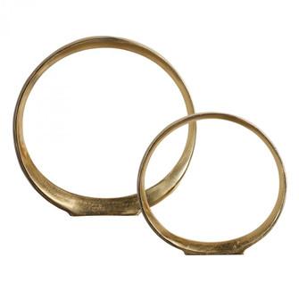 Uttermost Jimena Gold Ring Sculptures Set/2 (85|18961)