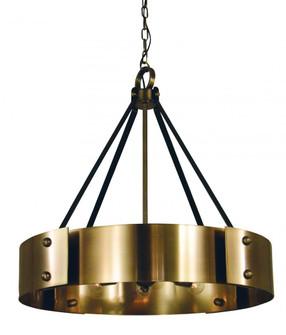 8-Light Antique Brass/Matte Black Lasalle Chandelier (84 5298 AB/MBLACK)
