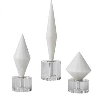 Uttermost Alize White Stone Sculptures S/3 (85|17580)