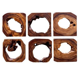 Uttermost Adlai Wood Wall Art S/6 (85|04207)
