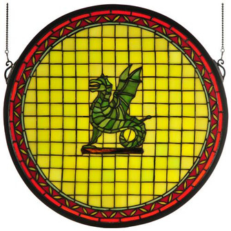 """16""""W X 16""""H Pendragon Round Stained Glass Window (96 65710)"""