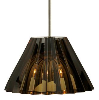 Pendant Ridge Crystal Cognac Bronze LED G4 JC 2W 110lm Monopoint (1381|PD043CGBZL2M)