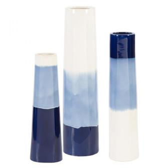 Uttermost Sconset White & Blue Vases, S/3 (85 17715)