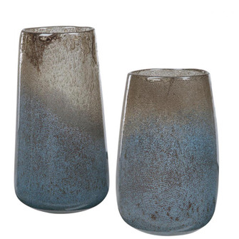 Uttermost Ione Seeded Glass Vases, S/2 (85|17762)