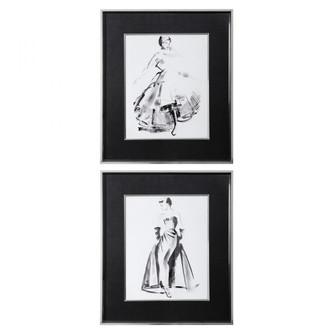 Uttermost Vintage Costume Sketch Framed Prints, S/2 (85|33706)