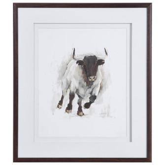Uttermost Rustic Bull Framed Animal Print (85|41606)