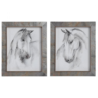 Uttermost Equestrian Watercolor Framed Prints, S/2 (85|41614)