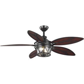 "Alfresco Collection 54"" Indoor/Outdoor Five-Blade Architectural Bronze Ceiling Fan (149