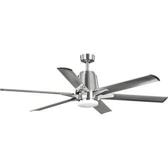 "Arlo Collection 60"" Indoor/Outdoor Six-Blade Brushed Nickel Ceiling Fan (149