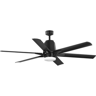 "Arlo Collection 60"" Indoor/Outdoor Six-Blade Black Ceiling Fan (149