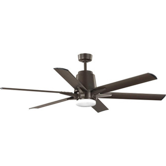 "Arlo Collection 60"" Indoor/Outdoor Six-Blade Architectural Bronze Ceiling Fan (149
