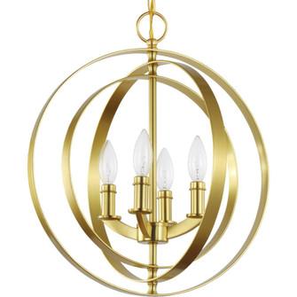 Equinox Collection Satin Brass Four-Light Sphere Pendant (P3827-12)