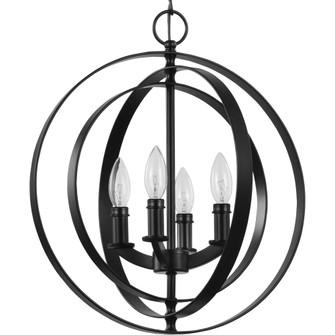 Equinox Collection Black Four-Light Sphere Pendant (P3827-31)