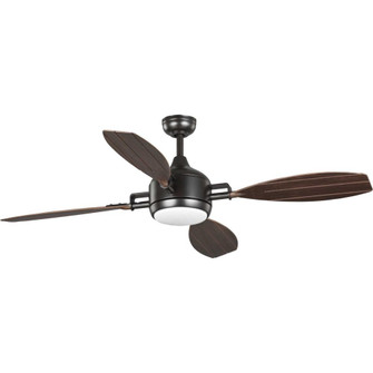 "Rudder Collection  Indoor/Outdoor 56"" Four-Blade Bronze Ceiling Fan (149