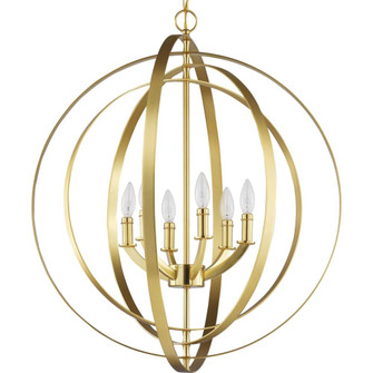 Equinox Collection Satin Brass Six-Light Sphere Pendant (P3889-12)