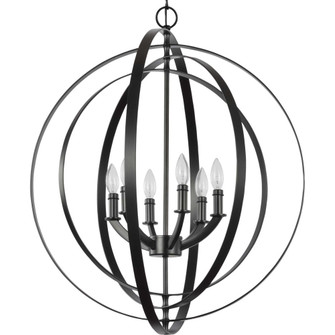 Equinox Collection Black Six-Light Sphere Pendant (P3889-31)