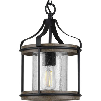 Brenham Collection Black One-Light Outdoor Pendant (P500234-031)
