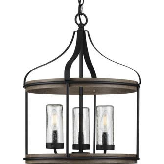 Brenham Collection Black Three-Light Outdoor Pendant (P500235-031)