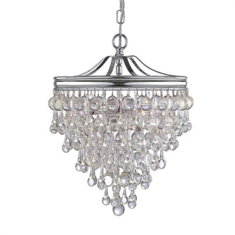 Calypso 3 Light Chrome Mini Chandelier (130-CH)