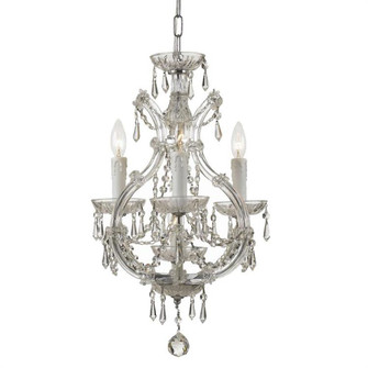 Maria Theresa 4 Light Italian Crystal Chrome Mini Chandelier (4473-CH-CL-I)