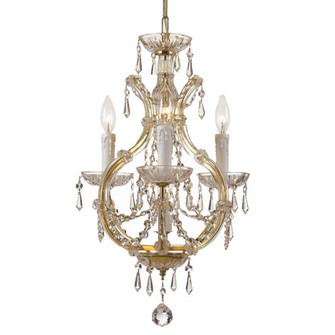 Maria Theresa 4 Light Clear Crystal Gold Mini Chandelier (4473-GD-CL-MWP)