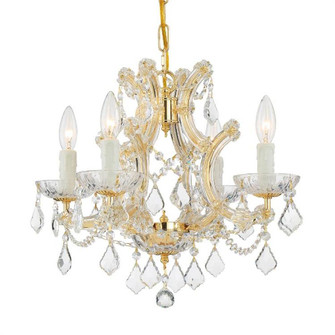 Maria Theresa 4 Light Clear Crystal Gold Mini Chandelier (4474-GD-CL-MWP)