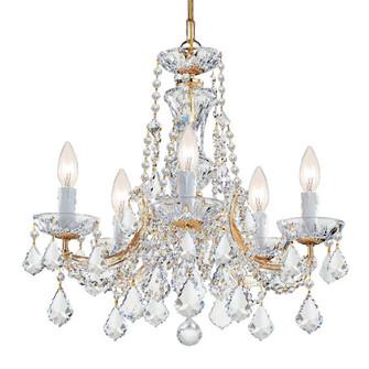 Maria Theresa 5 Light Swarovski Strass Crystal Gold Mini Chandelier (205|4476-GD-CL-S)