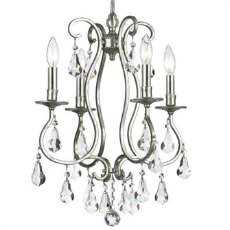 Ashton 4 Light Clear Crystal Silver Mini Chandelier (5014-OS-CL-MWP)