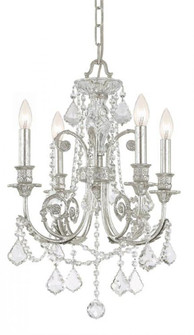 Regis 4 Light Clear Spectra Crystal Silver Mini Chandelier (205|5114-OS-CL-SAQ)