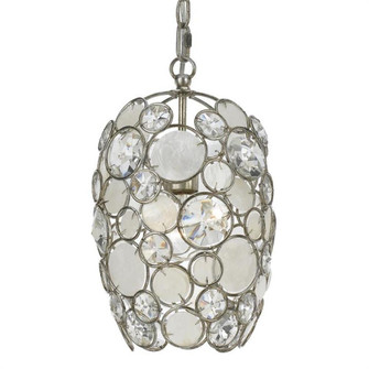 Palla 1 Light Antique Silver Mini Chandelier (523-SA)