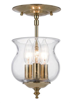 Ascott 3 Light Polished Brass Semi-Flush (5715-PB)