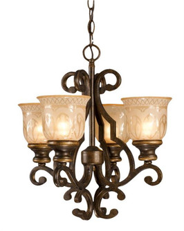 Norwalk 4 Light Bronze Mini Chandelier (205|7404-BU)