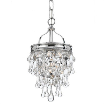 Calypso 1 Light Chrome Mini Chandelier (131-CH)